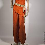 Одежда ручной работы. Ярмарка Мастеров - ручная работа Брюки Хоккайдо    лен. Handmade.