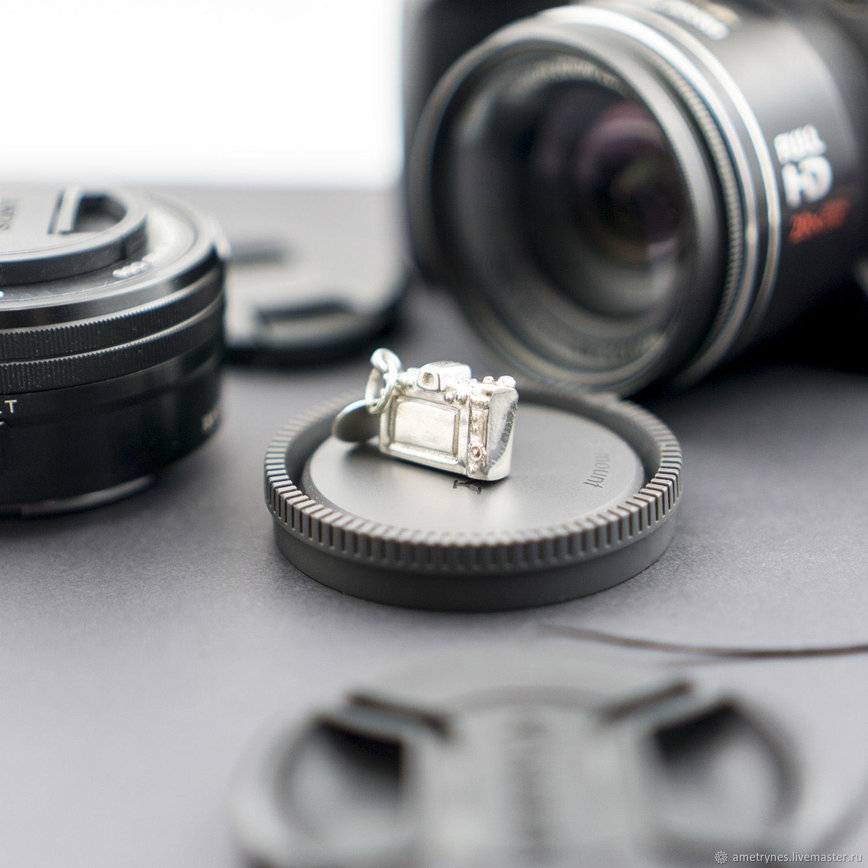 Брелок Фотоаппарат серебро 925