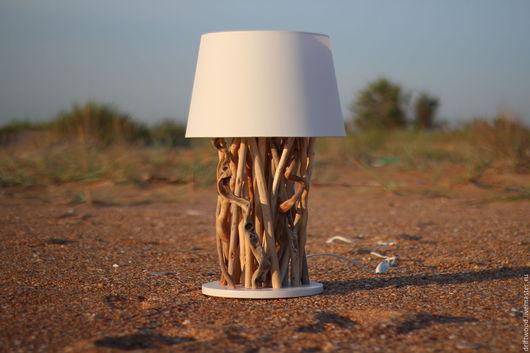 Освещение ручной работы. Ярмарка Мастеров - ручная работа. Купить Настольная лампа Driftwood. Handmade. Бежевый, коряга, фанера