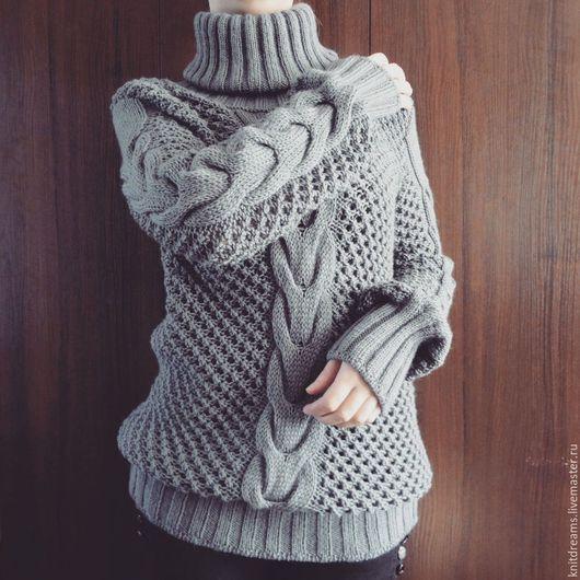 """Кофты и свитера ручной работы. Ярмарка Мастеров - ручная работа. Купить Свитер """"Jesse"""". Handmade. Серый, вязаный свитер"""