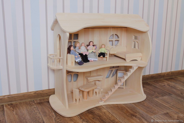 Кукольный домик двухэтажный №2, Кукольные домики, Казань,  Фото №1