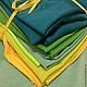 """Шитье ручной работы. Ярмарка Мастеров - ручная работа. Купить Набор лоскутов """"Буйство зелени"""". Handmade. Пэчворк, набор, трикотаж"""