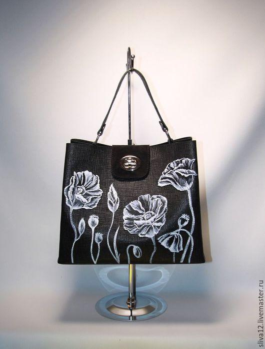 Женские сумки ручной работы. Ярмарка Мастеров - ручная работа. Купить Сумка кожаная женская .Белое и черное-2 (продается). Handmade.