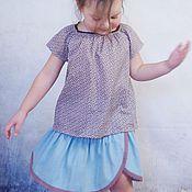 Работы для детей, ручной работы. Ярмарка Мастеров - ручная работа Джинсовая юбочка для девочки. Handmade.