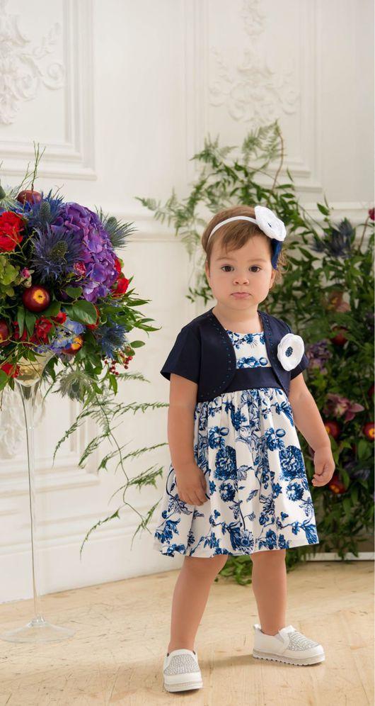 """Одежда для девочек, ручной работы. Ярмарка Мастеров - ручная работа. Купить Комплект """"Гжель"""". Handmade. Комплект, платье"""