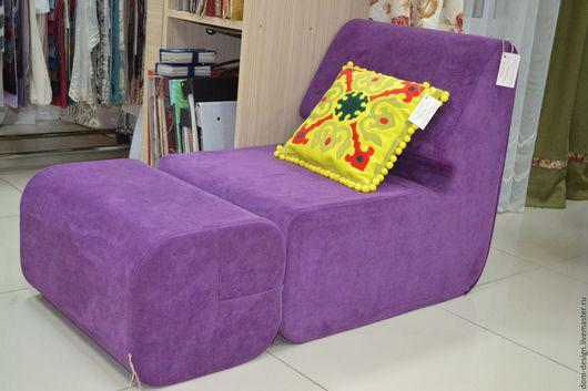 Мебель ручной работы. Ярмарка Мастеров - ручная работа. Купить бескаркасное кресло. Handmade. Тёмно-фиолетовый, мебель на заказ