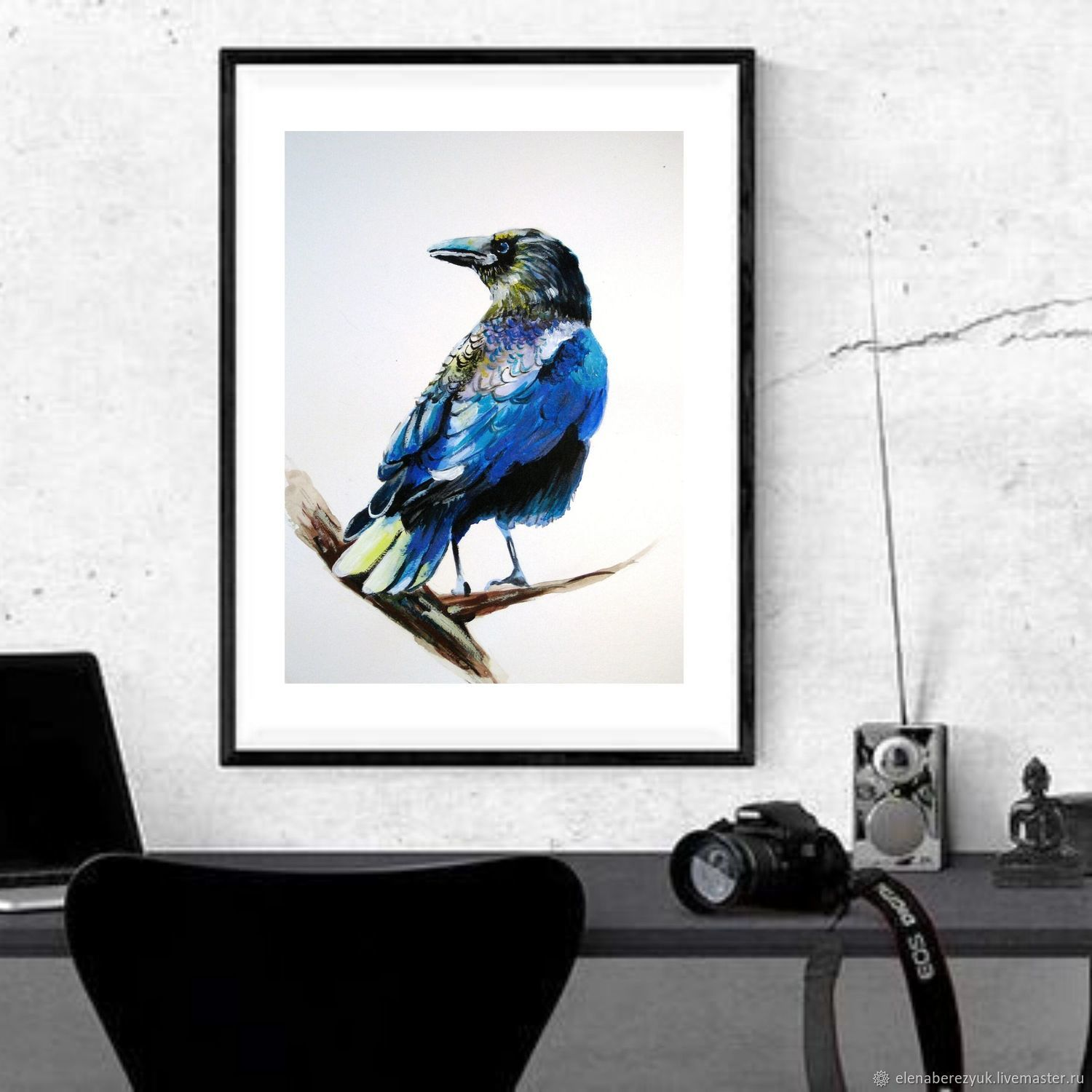 Crow Watercolor painting, Pictures, Petrozavodsk,  Фото №1