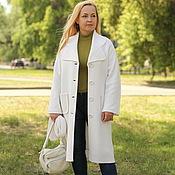 """Одежда ручной работы. Ярмарка Мастеров - ручная работа Шерстяное пальто """"Ослепительно- белое"""". Handmade."""