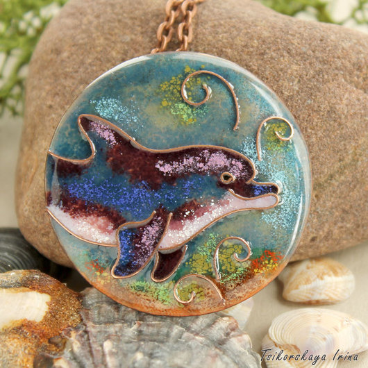 """Кулоны, подвески ручной работы. Ярмарка Мастеров - ручная работа. Купить Кулон """"Дельфин"""". Handmade. Дельфин, кулон дельфины, море"""