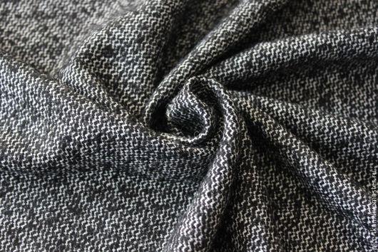Шитье ручной работы. Ярмарка Мастеров - ручная работа. Купить 26501 итальянский костюмный твид. Handmade. Чёрно-белый