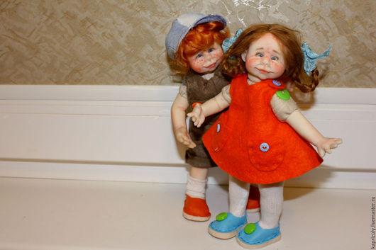 Коллекционные куклы ручной работы. Ярмарка Мастеров - ручная работа. Купить Друзья.. Handmade. Рыжий, кукла интерьерная, полимерная глина