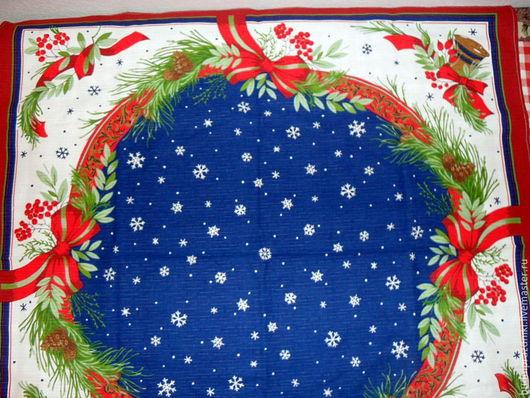 Текстиль, ковры ручной работы. Ярмарка Мастеров - ручная работа. Купить Новогодняя скатерть и две салфетки. Handmade. Тёмно-синий