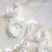 """Свадебный салон ручной работы. Ярмарка Мастеров - ручная работа Свадебные бутылки """"Белые цветы"""". Handmade."""