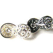 Материалы для творчества handmade. Livemaster - original item Studs 925 sterling silver Bali. Handmade.