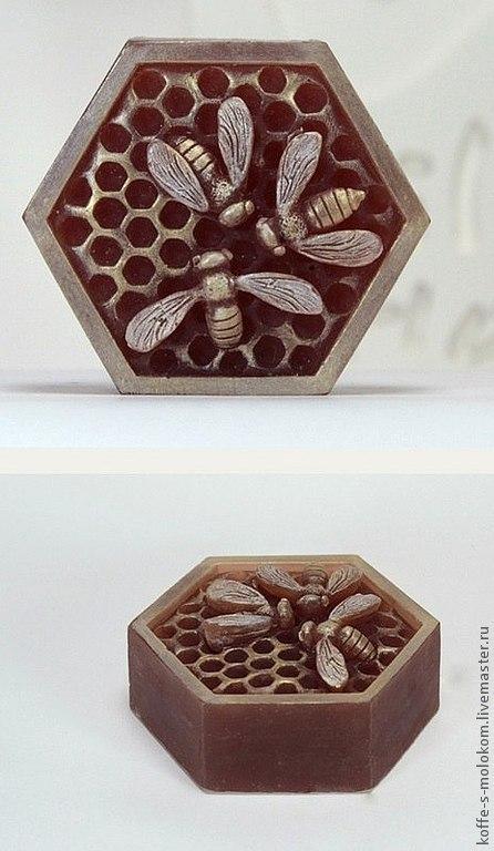 Материалы для косметики ручной работы. Ярмарка Мастеров - ручная работа. Купить Силиконовая форма для мыла Три пчелы на сотах. Handmade.