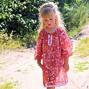 Одежда детская handmade. Livemaster - original item Tunic of lawn for girls
