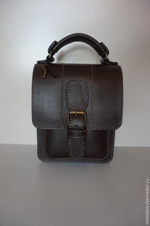 Мужские сумки ручной работы. Ярмарка Мастеров - ручная работа. Купить Планшет из толстой кожи 160 х 200. Handmade.