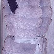 """Одежда ручной работы. Ярмарка Мастеров - ручная работа Меховой жилет """"Топаз"""". Handmade."""