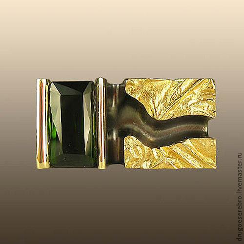 Украшения для мужчин, ручной работы. Ярмарка Мастеров - ручная работа. Купить Мужской перстень Зеленая гора, золото 585 пробы. Handmade.