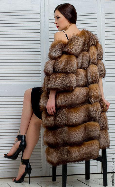 Верхняя одежда ручной работы. Ярмарка Мастеров - ручная работа. Купить Шёлковая лиса. Handmade. Коричневый