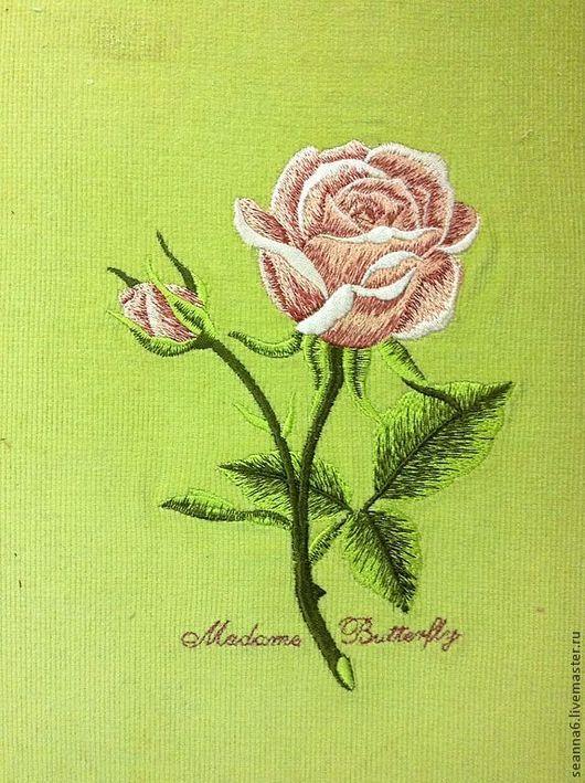 """Картины цветов ручной работы. Ярмарка Мастеров - ручная работа. Купить Вышитая картина, картинка, панно, одежда """"Роза"""". Handmade."""