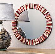 Для дома и интерьера ручной работы. Ярмарка Мастеров - ручная работа Зеркало в цвете бордо. Handmade.