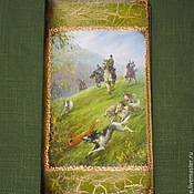 Сумки и аксессуары handmade. Livemaster - original item Business card holder Fox Hunt (2). Handmade.