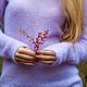 Кофты и свитера ручной работы. Сиреневый пуловер.. Ирина. Ярмарка Мастеров. Пуловер из мохера, мохеровый свитер
