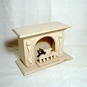 Куклы и игрушки handmade. Livemaster - original item Small fireplace for doll house. Handmade.