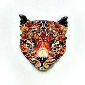 Украшения handmade. Livemaster - original item Amber leopard. Handmade.
