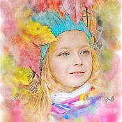 Картины и панно ручной работы. Ярмарка Мастеров - ручная работа Портрет по фото (Осенняя). Handmade.