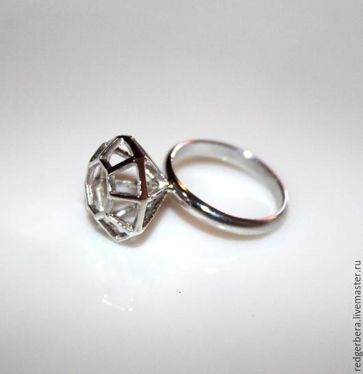 """Кольца ручной работы. Ярмарка Мастеров - ручная работа. Купить Кольцо """"Диамант"""" серебро 925 пробы. Handmade. Кольцо из серебра"""