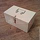 Крепкий и надежный фанерный ящик для хранения различных вещей и предметов.
