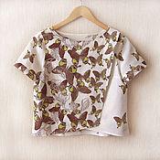 Одежда ручной работы. Ярмарка Мастеров - ручная работа Блуза Бабочки. Handmade.
