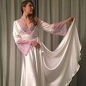 "Одежда ручной работы. Ярмарка Мастеров - ручная работа Халат ""Шёлковая Роза"". Handmade."