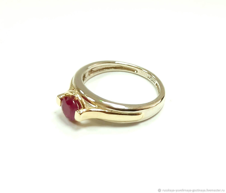 Золотое кольцо с рубином, Кольца, Москва,  Фото №1