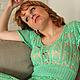 Платья ручной работы. Ярмарка Мастеров - ручная работа. Купить Платье Мохито. Handmade. Мятный, платье вязаное крючком, ананасы