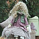 Куклы Тильды ручной работы. Виолетта, барышня в лиловом.. Элина Шишкина.Тильды и не только... (elina-tilda). Ярмарка Мастеров. Кукла Тильда