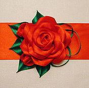 Работы для детей, handmade. Livemaster - original item satin sash rose