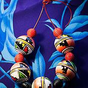 Бусы ручной работы. Ярмарка Мастеров - ручная работа Бусы: Яркие крупные бусины.. Handmade.