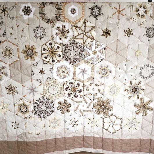 Текстиль, ковры ручной работы. Ярмарка Мастеров - ручная работа. Купить Стёганое пэчворк покрывало на двуспальную кровать. Handmade.