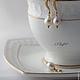 """Комплекты украшений ручной работы. Ярмарка Мастеров - ручная работа. Купить позолоченный комплект с натуральным жемчугом """"Невеста"""". Handmade. Белый"""