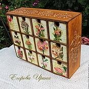 Для дома и интерьера handmade. Livemaster - original item Mini chest of drawers a Celebration of orchids. Handmade.