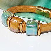 Украшения handmade. Livemaster - original item Bracelet Regaliz Turquoise Mustard. Handmade.