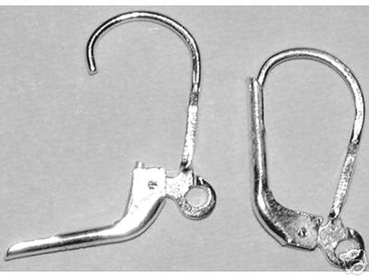 Артикул 33015 Швензы из 925 серебра  с французским замком 16х10 мм Сделано в Италии!