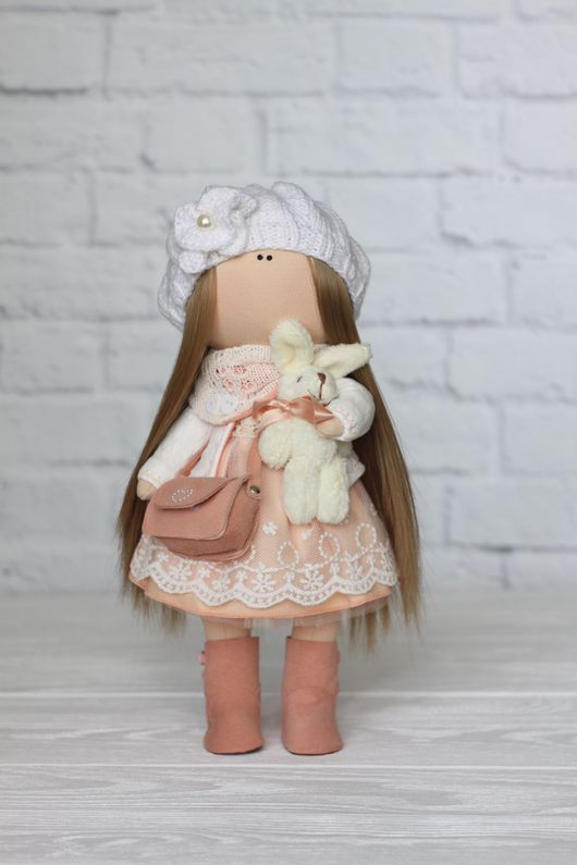 Куклы тыквоголовки ручной работы. Ярмарка Мастеров - ручная работа. Купить Интерьерная кукла. Handmade. Бежевый, ручная работа, кружево