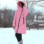 Одежда ручной работы. Ярмарка Мастеров - ручная работа Розовый пуховик/куртка. Handmade.