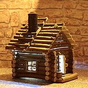 Для дома и интерьера ручной работы. Ярмарка Мастеров - ручная работа Светильник-ночник деревянный. Избушка-лесовушка. Handmade.