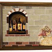 Картины и панно handmade. Livemaster - original item Wall decor IN A VILLA BY THE SEA.TUSCANY. 3d.. Handmade.