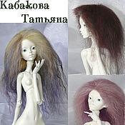 Куклы и игрушки ручной работы. Ярмарка Мастеров - ручная работа парики для бжд кукол 1/4. Handmade.